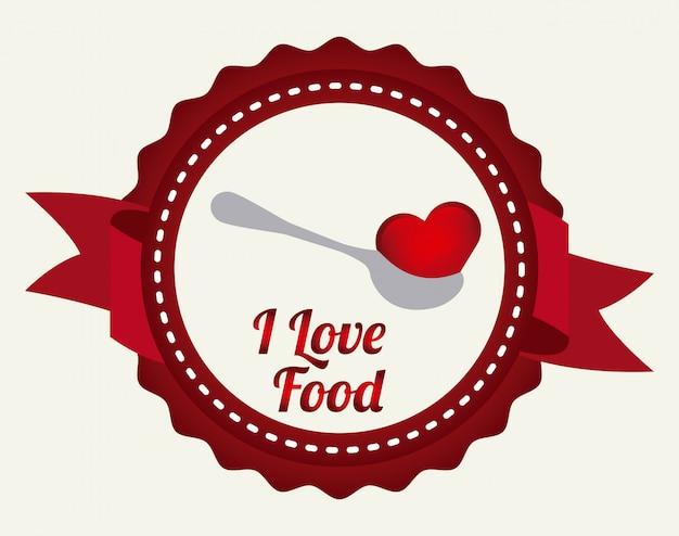 Liebe essen Premium Vektoren