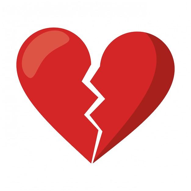 Zerbrochen Herz