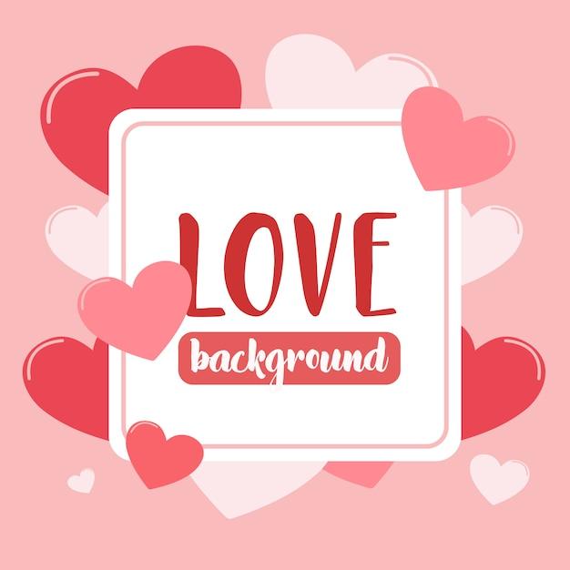 Liebe hintergrund mit herz Premium Vektoren
