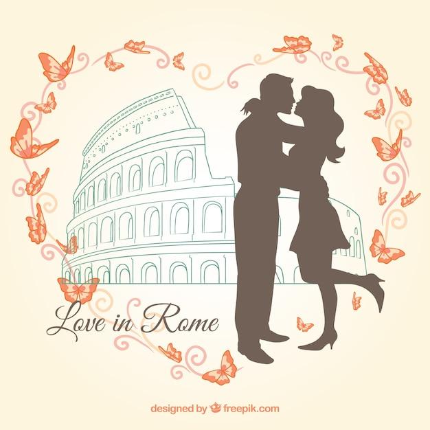 Liebe in rom Kostenlosen Vektoren