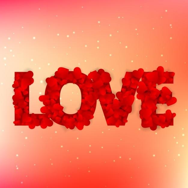 Liebe text mit herzen geschrieben | Kostenlose Vektor