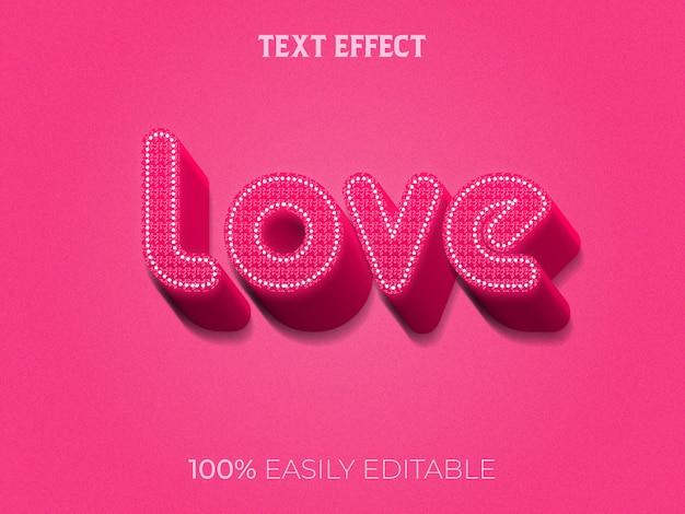 Liebe texteffekt Premium Vektoren