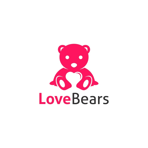 Liebe trägt logo Premium Vektoren