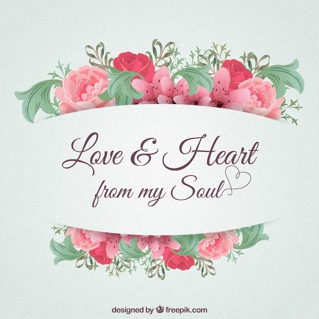 Liebe und herz aus meiner seele Kostenlosen Vektoren