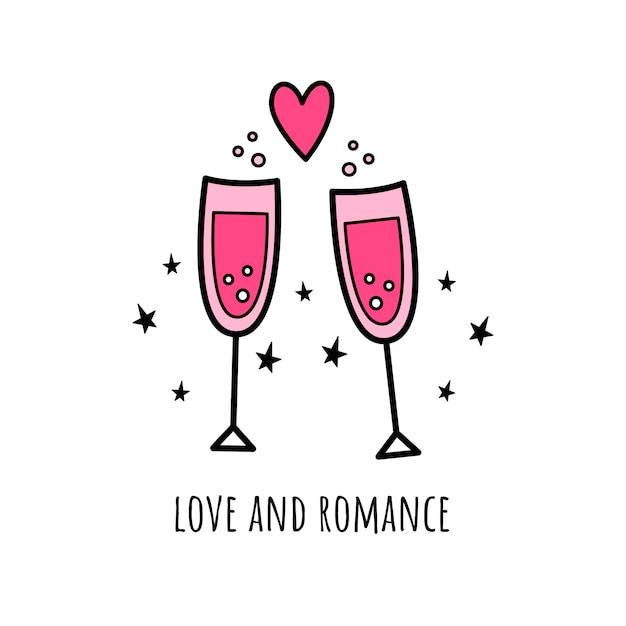 Liebe und romantik Premium Vektoren