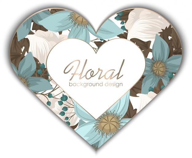Liebesblumenrahmen - valentinstag Kostenlosen Vektoren