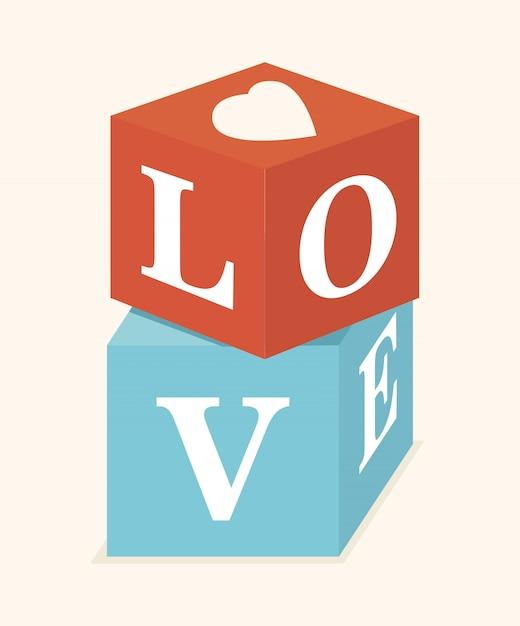 Liebesentwurf Premium Vektoren