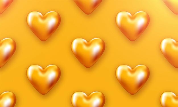 Liebesherz valentines. romantischer tag backround plakat zur förderung. spezielle vorlage für liebesgeschichten. romantisches banner. Premium Vektoren