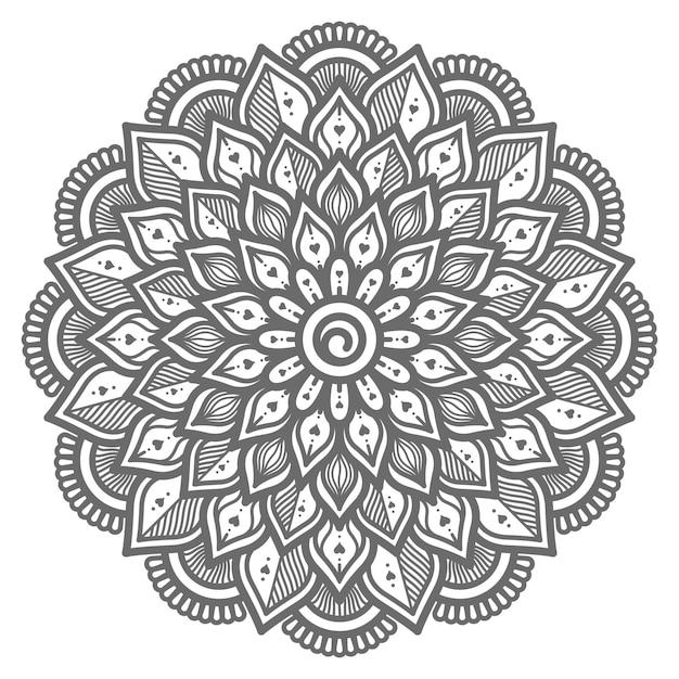Liebeskonzept handgezeichnete mandala-illustration für abstraktes und dekoratives konzept Premium Vektoren