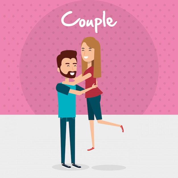 Liebespaar avatare zeichen Kostenlosen Vektoren