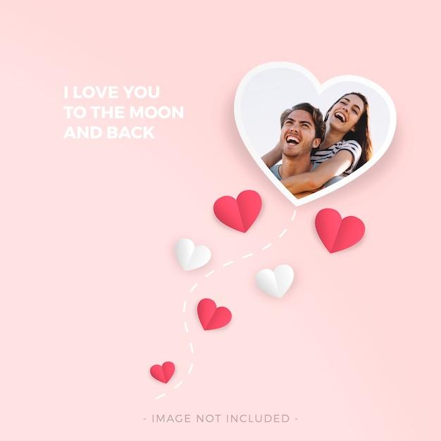 Liebesrahmen für den valentinstag Kostenlosen Vektoren