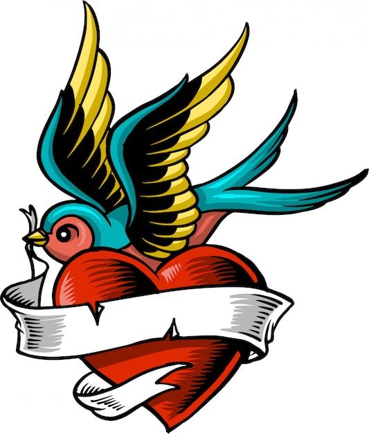 Liebesvogel Premium Vektoren