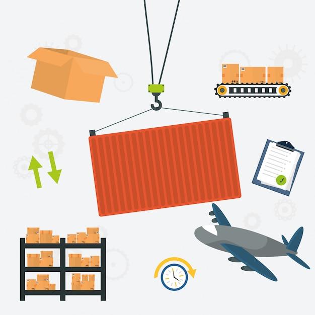 Lieferung design illustration Premium Vektoren
