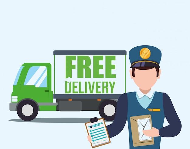 Lieferung frei haus Premium Vektoren