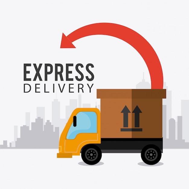 Lieferung, transport und logistik Premium Vektoren