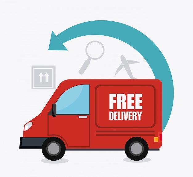 Lieferung und logistik Premium Vektoren