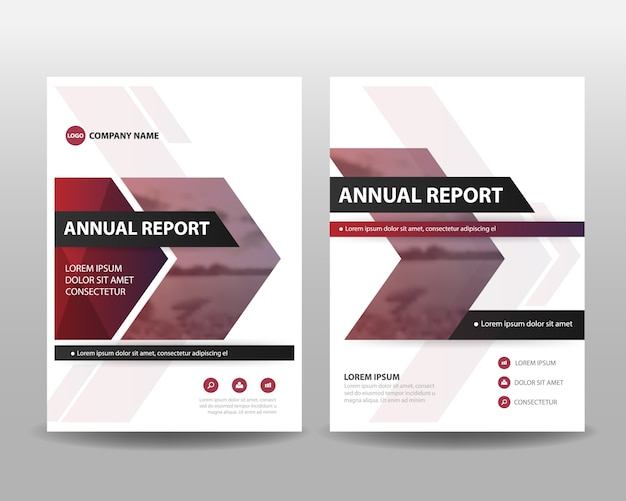 Lila Jahresbericht Deckblatt Vorlage | Download der Premium Vektor