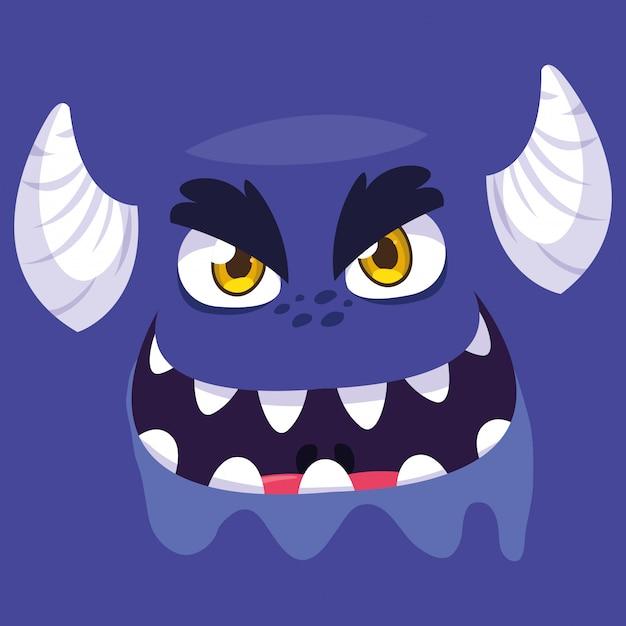 Lila monster-cartoon Premium Vektoren