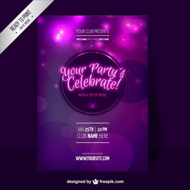 Lila Party-Flyer-Schablone | Download der kostenlosen Vektor