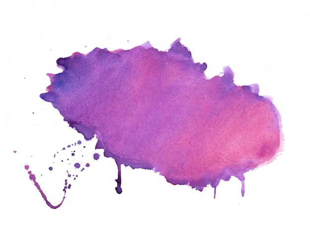 Lila schatten aquarellfleck textur hintergrund design Kostenlosen Vektoren