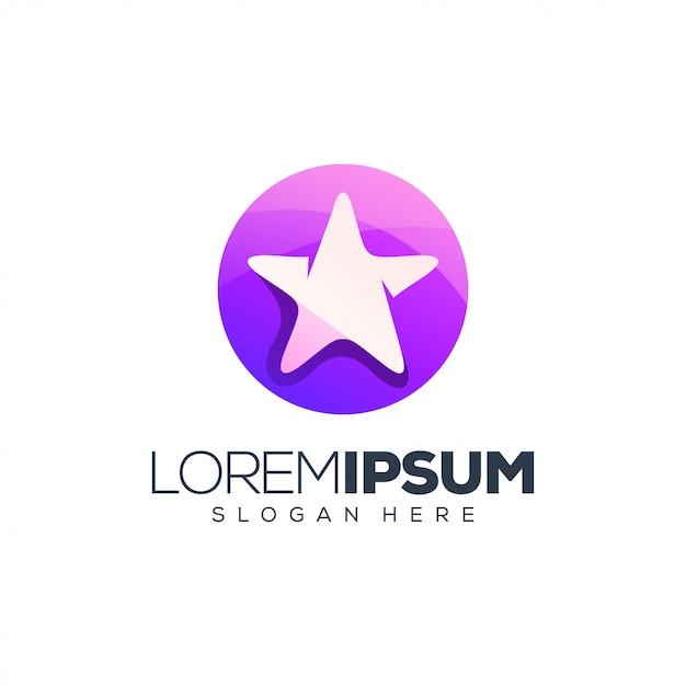 Lila sternlogo Premium Vektoren