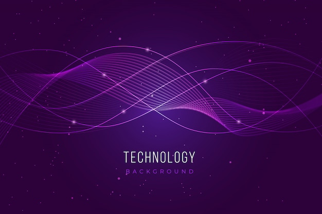 Lila technologie-hintergrund Kostenlosen Vektoren