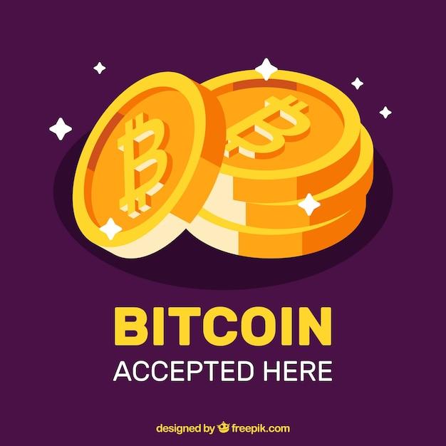 Lila und goldener bitcoinentwurf Kostenlosen Vektoren