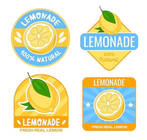 Limonade abzeichen design-set Kostenlosen Vektoren