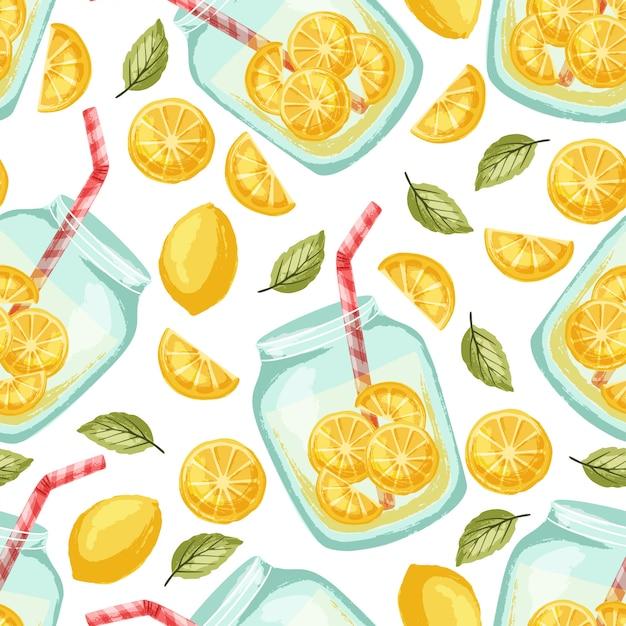 Limonadenmuster Premium Vektoren