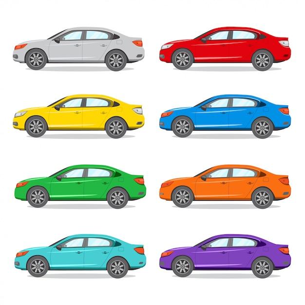 Limousine andere farbe illustration. Premium Vektoren