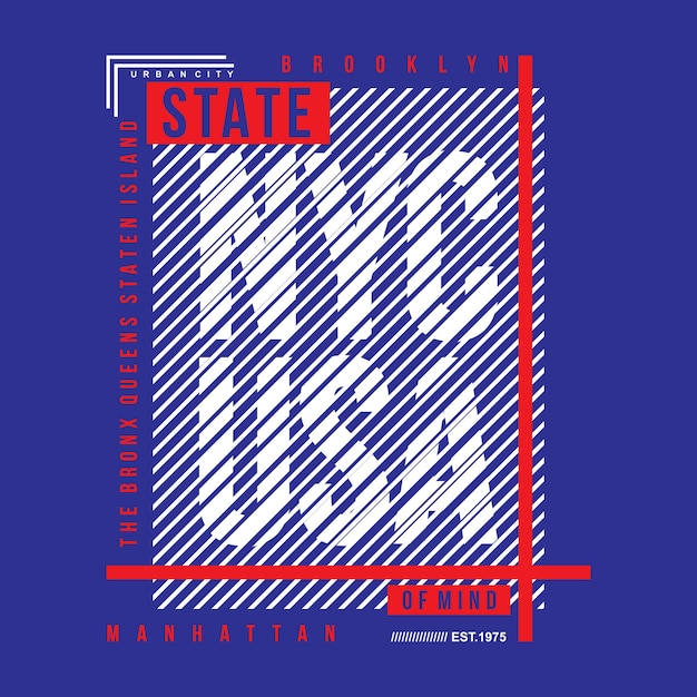 Linien abstrakte grafik idee Premium Vektoren