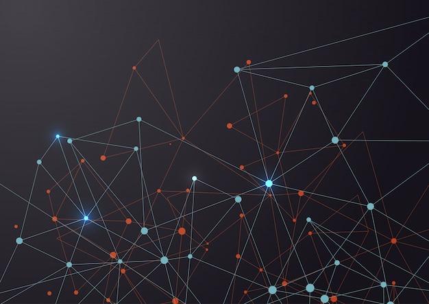Linien und Punkte verbinden Kostenlose Vektoren
