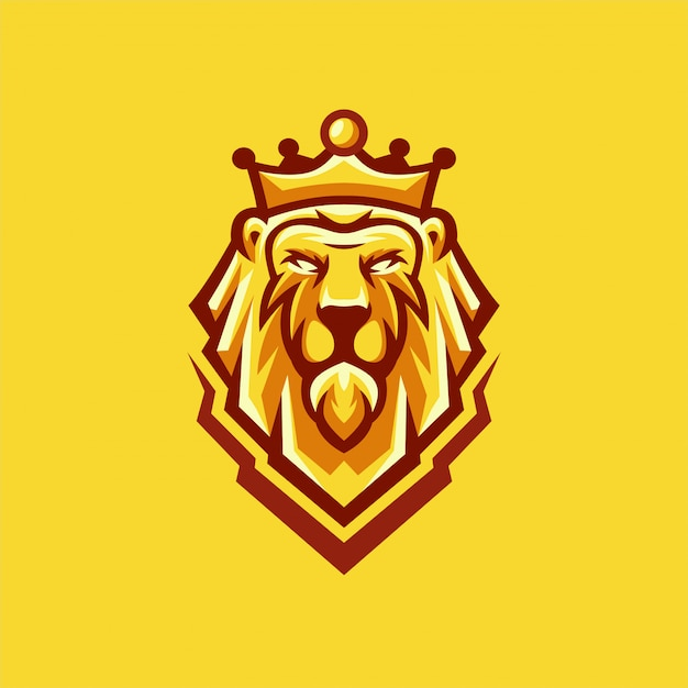 Lion logo-designs Premium Vektoren