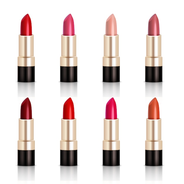 Lippenstift-sortiment Kostenlosen Vektoren
