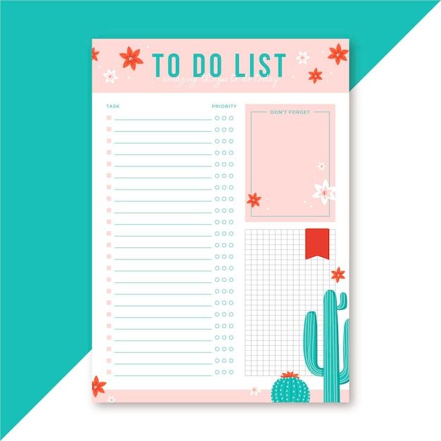 Liste redaktionelle vorlage zu tun Kostenlosen Vektoren
