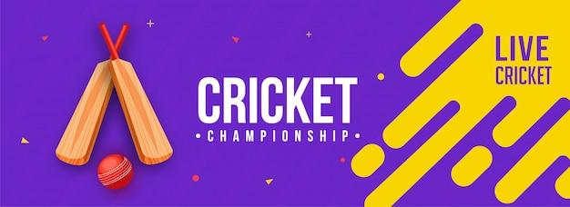 Live-cricket-banner Premium Vektoren