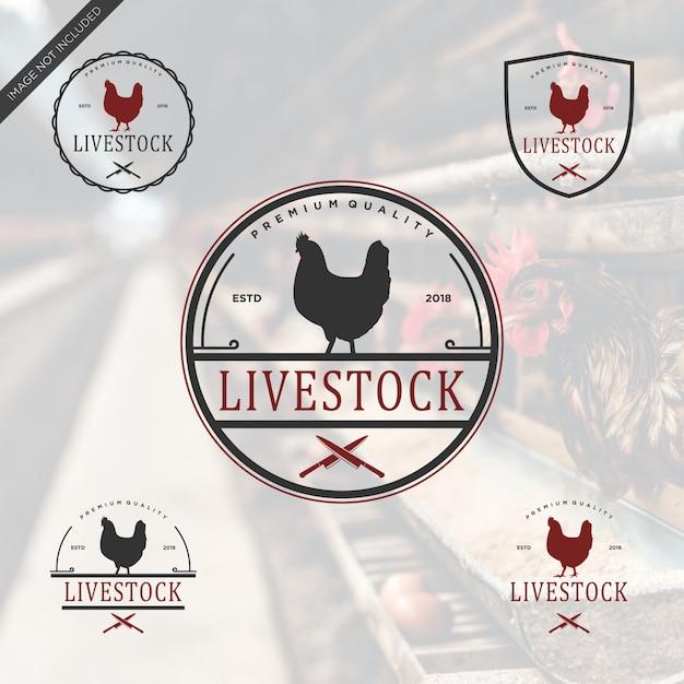 Live-lager logo vintage Premium Vektoren