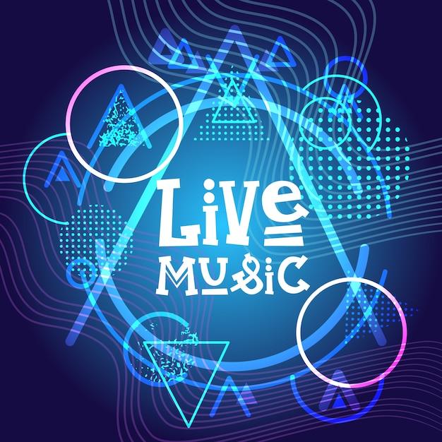 Live-musik-konzert poster festival banner Premium Vektoren