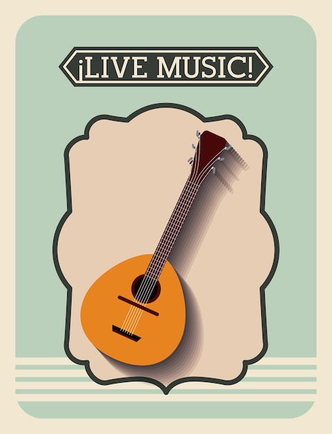 Live-Musik-Rahmen Retro isoliert Icon-Design | Download der Premium ...