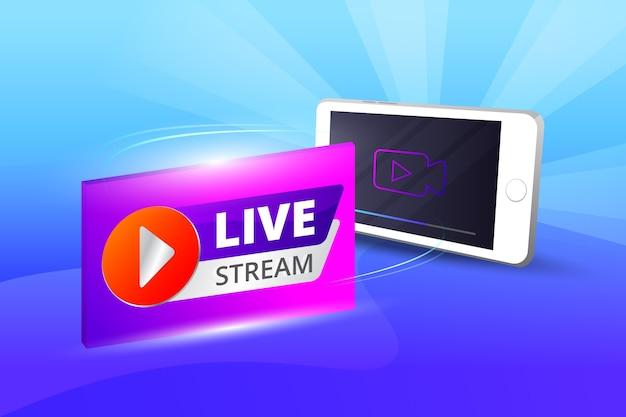Live-stream-konzept Kostenlosen Vektoren