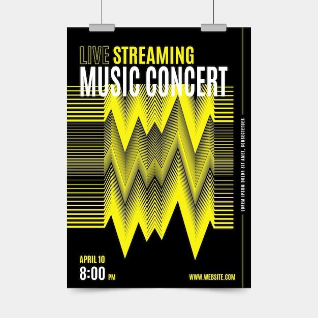 Live-stream musik konzert poster thema Kostenlosen Vektoren