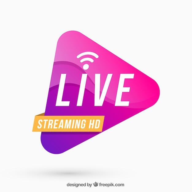 Live-streaming-hintergrund Kostenlosen Vektoren