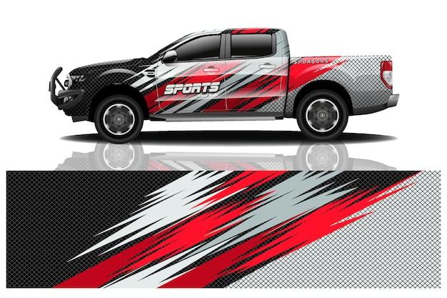 Lkw auto aufkleber wrap abbildung Premium Vektoren