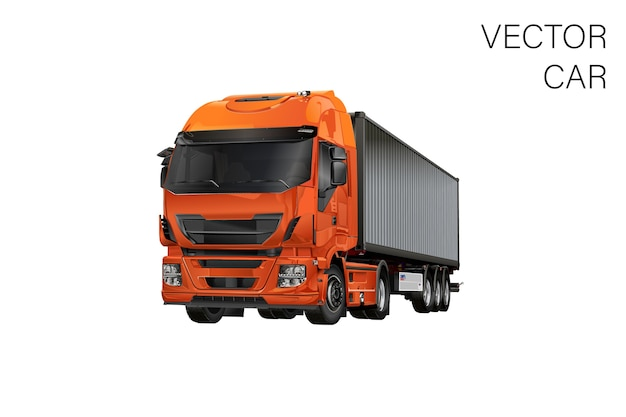 Lkw-illustration Premium Vektoren