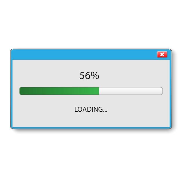 Loading bar für ui- und ux-design. vektor-illustration Premium Vektoren