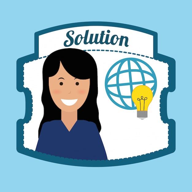 Lösungsdesign Premium Vektoren