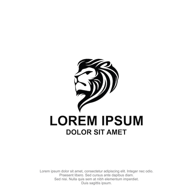 Löwe head logo design Premium Vektoren