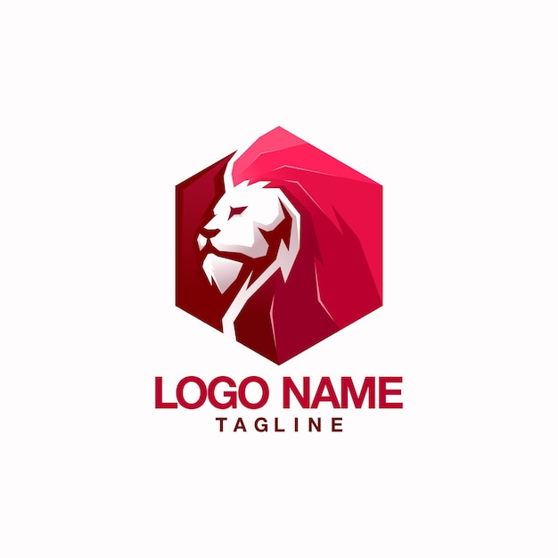 Löwe-logo Premium Vektoren