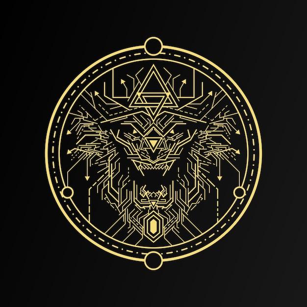 Löwen-emblem Premium Vektoren
