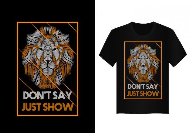 Löwevektorkunst für t-shirt design Premium Vektoren